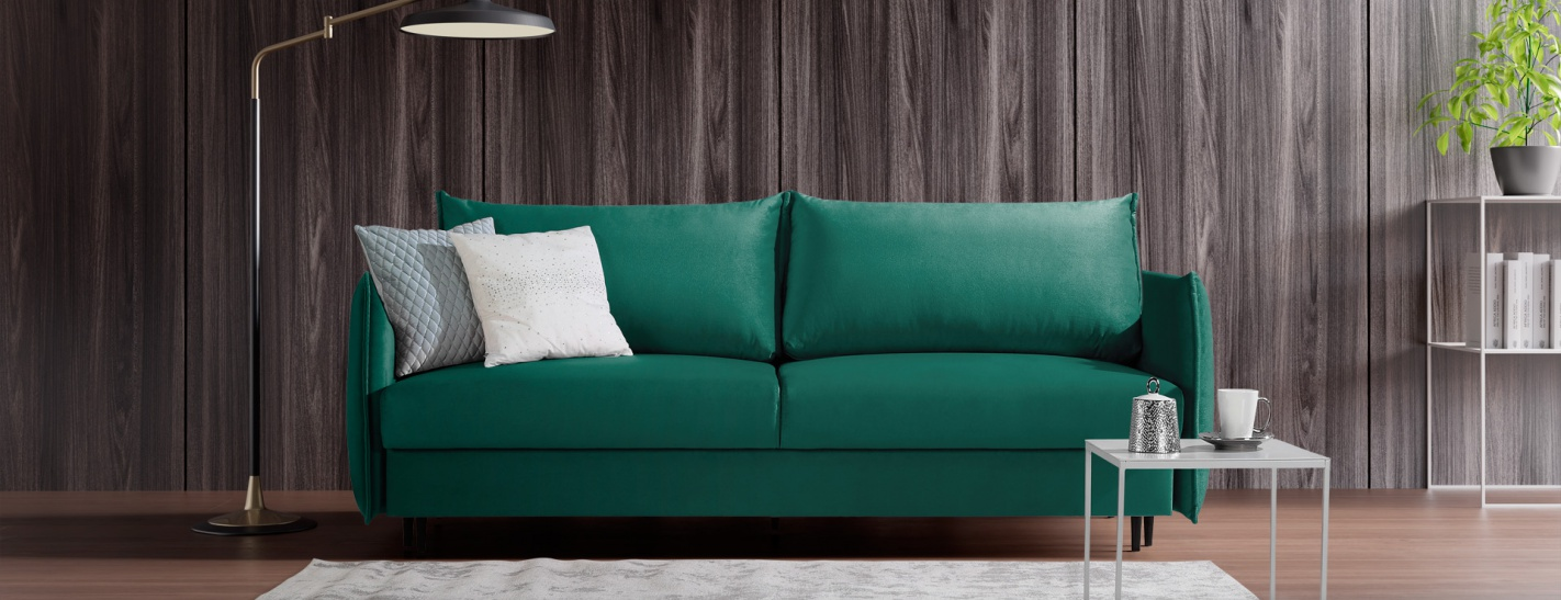 Sofa EGO 3 osobowa z funkcją spania i pojemnikiem