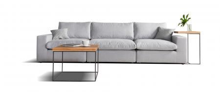 CUBE sofa 3 osobowa wymiar 315 cm. CUBE to prosta, czysta i przejrzysta forma mebla odzwierciedla modny trend modułowego aranżacji przestrzeni na różne sposoby.