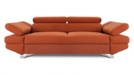 AVANTI sofa 2 osobowa w kolorze ceglastym.
