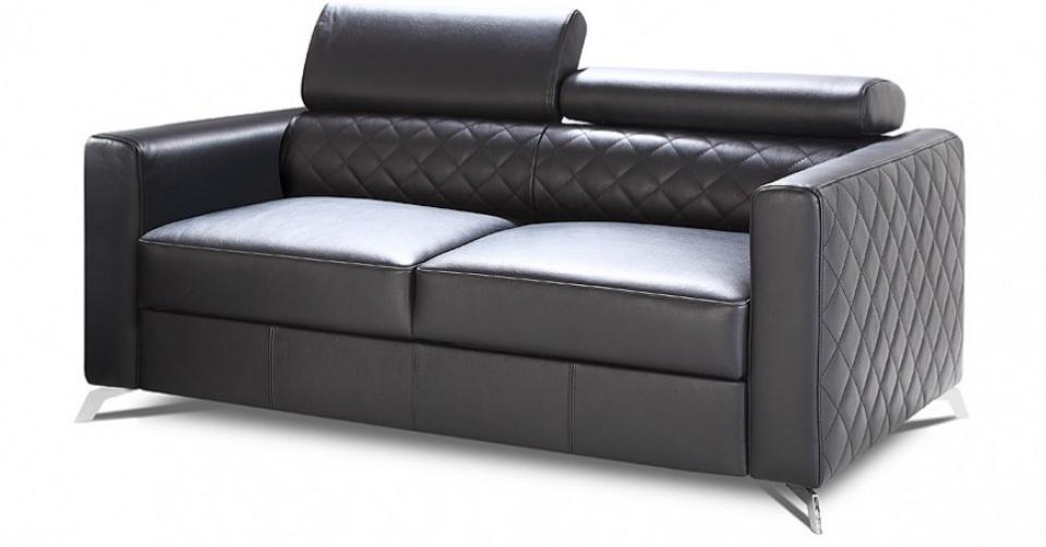 MENTOR sofa 2 osobowa z regulowanymi zagłówkami.