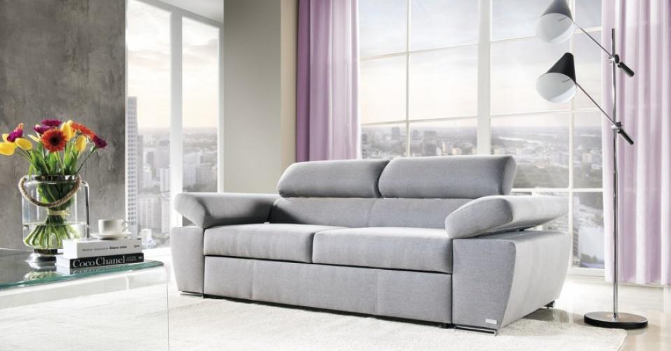 Sofa doskonale pasuje do nowoczesnych wnętrz.