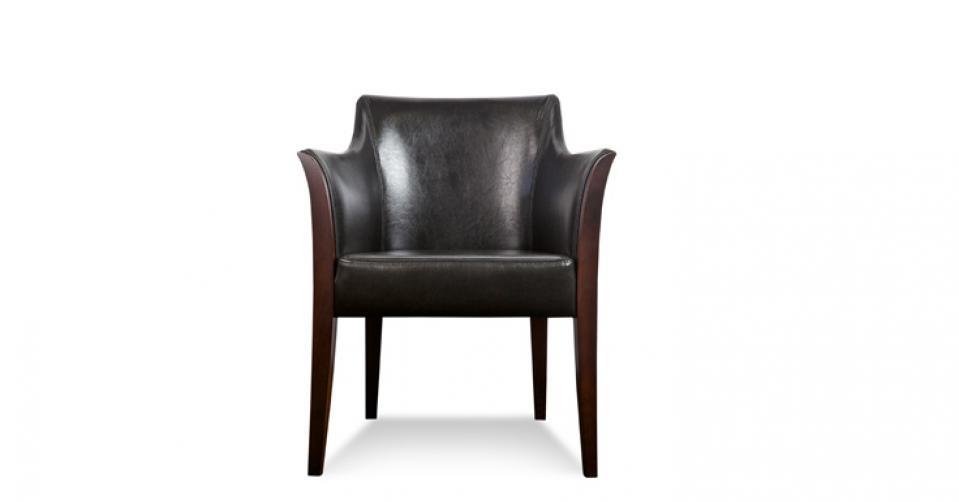 Fotel w skórze typu bycast col. brown.