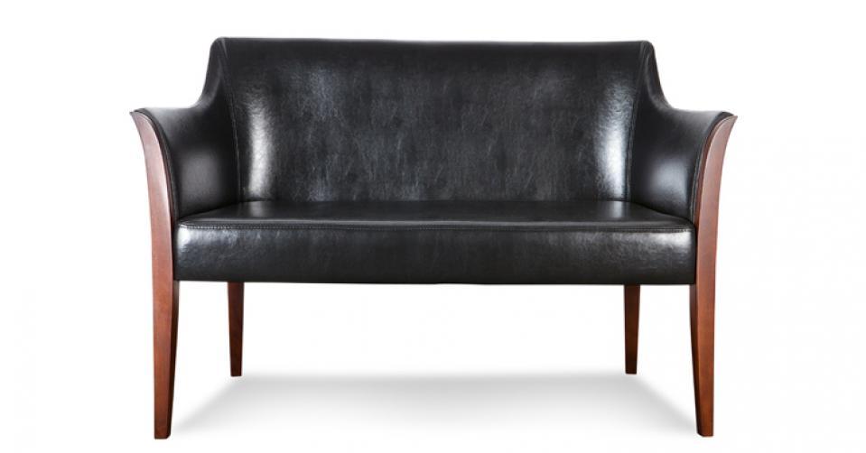 BARI elegancka sofa 2 osobowa w skórze typu bycast.