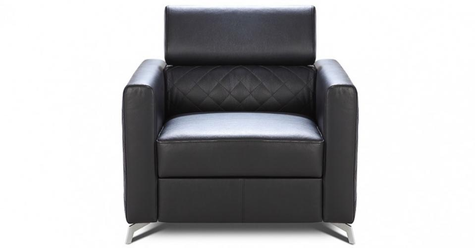 MENTOR fotel w skórze naturalnej.