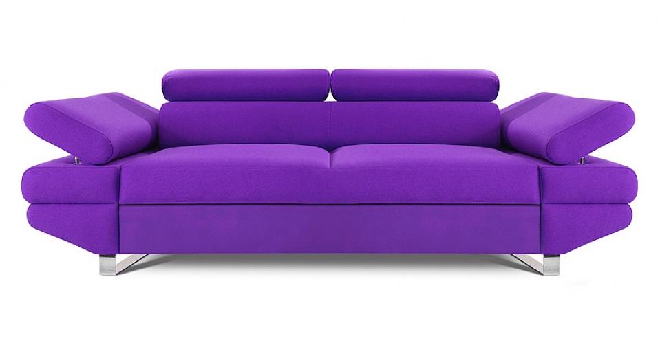AVANTI sofa 2 osobowa w kolorze fioletowym.