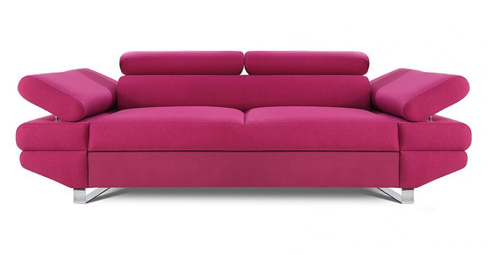 AVANTI sofa 2 osobowa w kolorze fuksja.