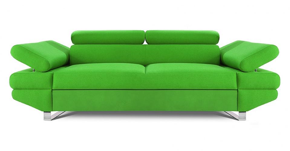 AVANTI sofa 2 osobowa w kolorze jasno zielonym.