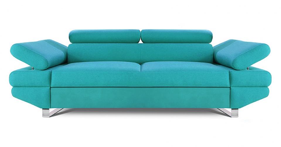 AVANTI sofa 2 osobowa w kolorze turkusowym.