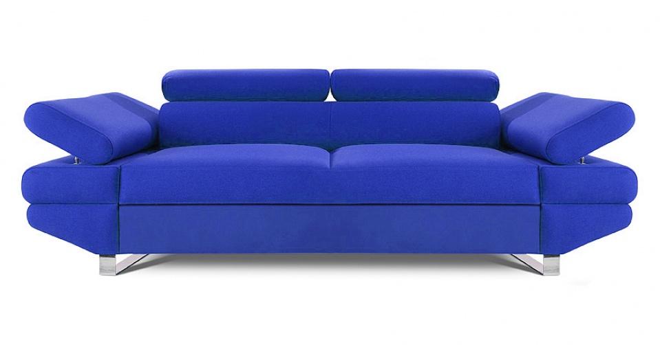 AVANTI sofa 2 osobowa w kolorze niebieskim.