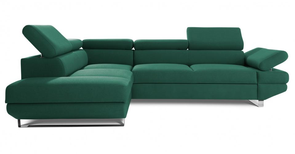 AVANTI w modnej tkaninie velvet w zielonym kolorze