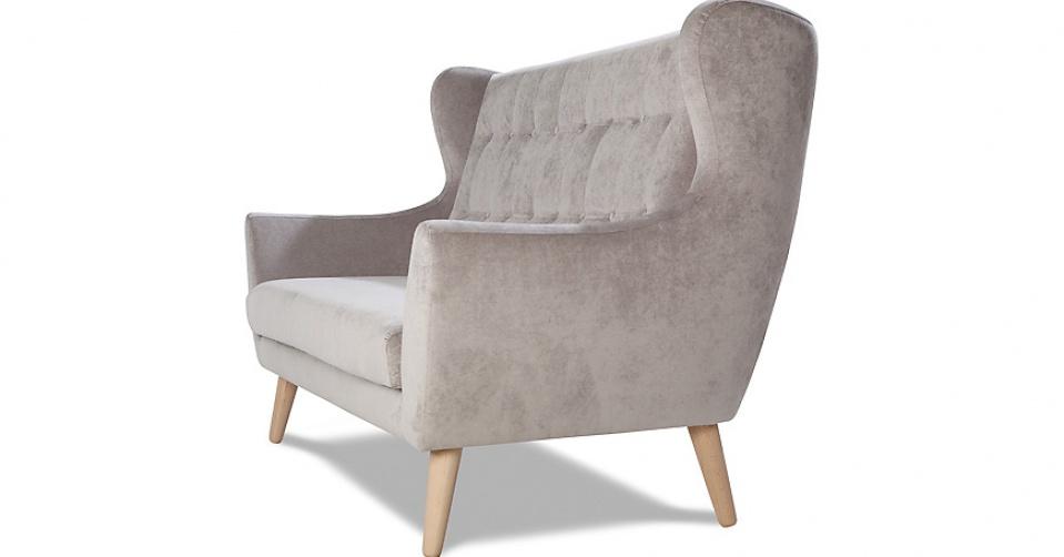 CLEO sofa 3 osobowa w tkaninie hydrofobowej Milton.
