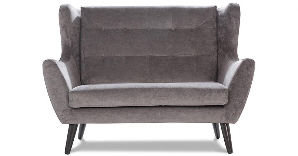 CLEO sofa 2 osobowa w tkaninie hydrofobowej Milton.