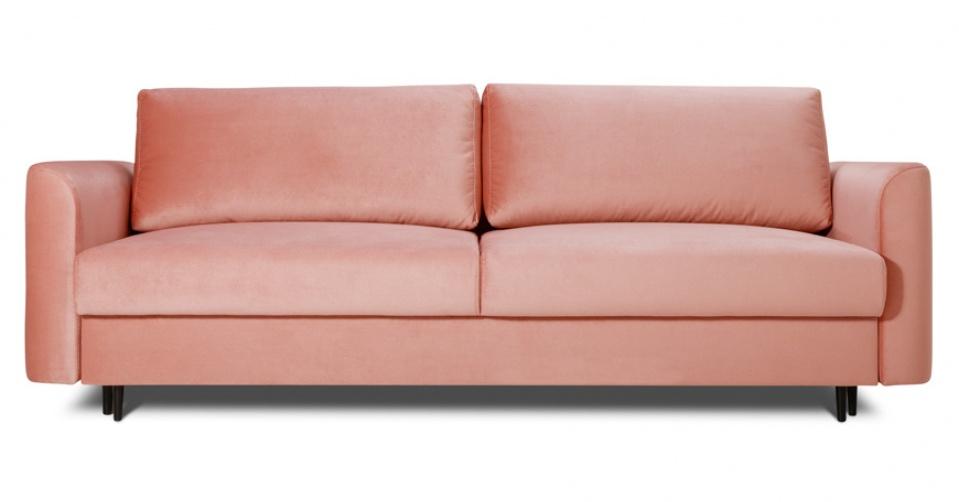 Sofa 3 osobowa ALTO z funkcją spania w modnym coralowym kolorze.