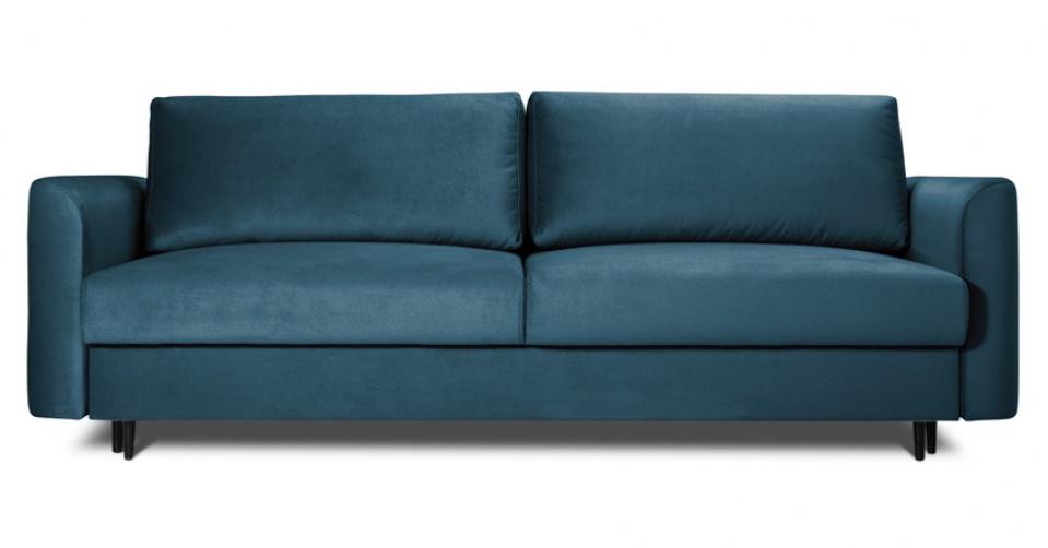 Sofa 3 osobowa ALTO z funkcją spania w modnym granatowym kolorze.