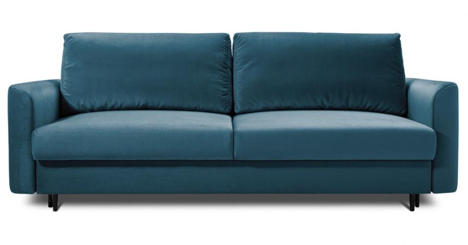 Sofa 3 osobowa ALTO z funkcją spania w modnym niebieskim kolorze.