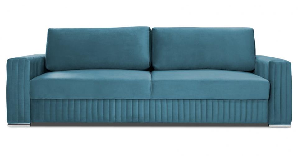Sofa 3 osobowa z modnymi przeszyciami podkreślającymi styl Glamour