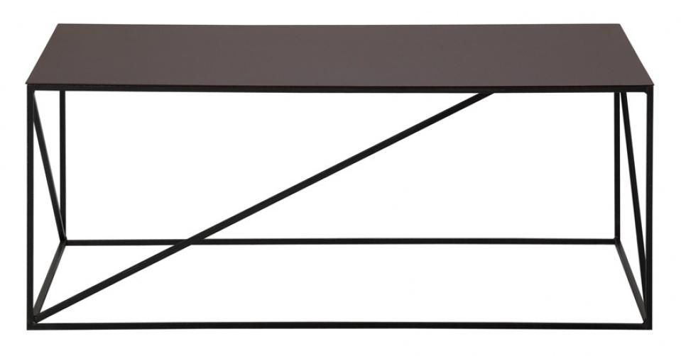LOFT 9027 designerski stolik coffee w kolorze cortenu.