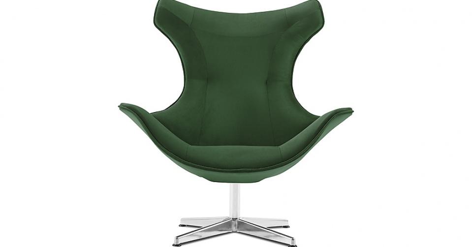 MIRASOL designerski fotel w tkaninie velvet NAPOLI