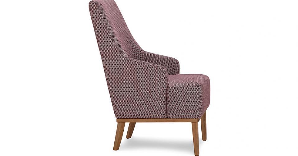 Fotel CAMPARI w tkaninie z kolekcji Mirasol.