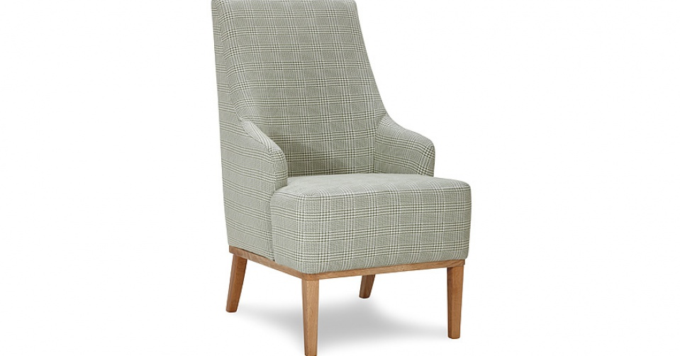 Fotel CAMPARI w tkaninie z kolekcji Mirasol