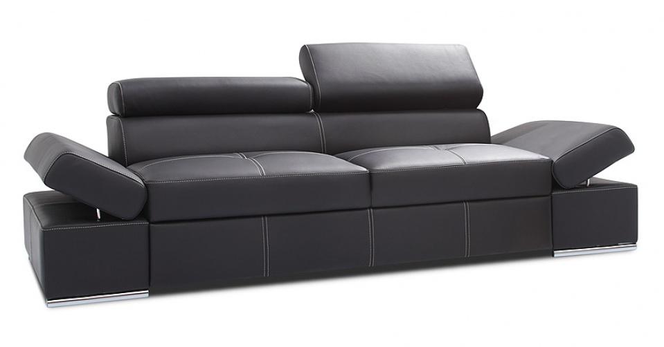 LORENZO sofa 2,5 w skórze naturalnej.