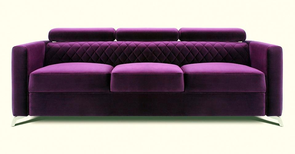 MENTOR sofa 3 osobowa w kolorze fuksja.