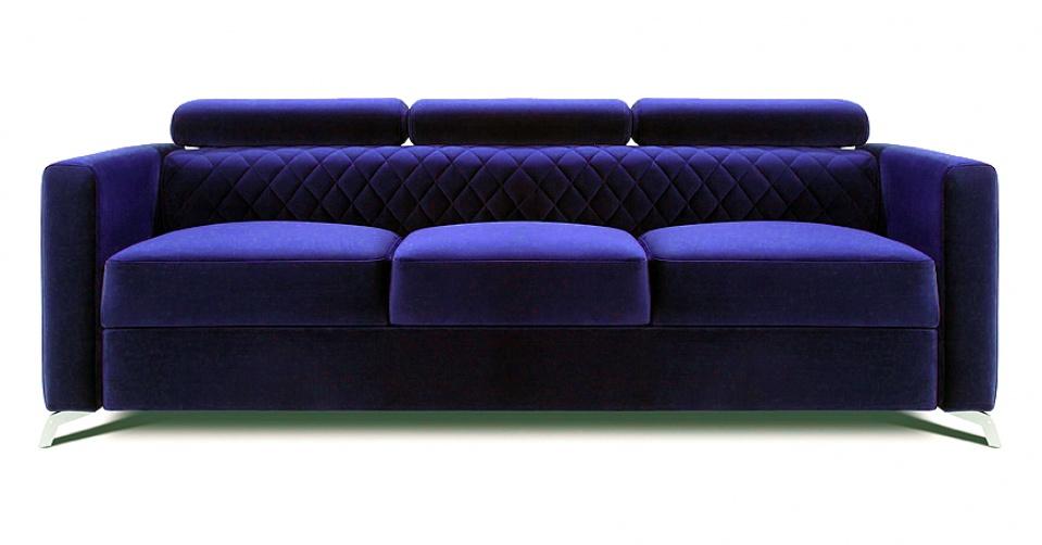 MENTOR sofa 3 osobowa w kolorze granatowym.