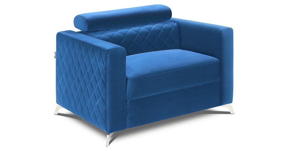 MENTOR fotel w tkaninie typu velvet.