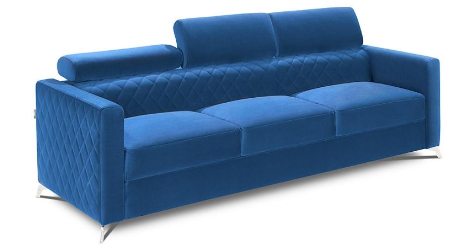 Sofa 3 osobowa MENTOR w tkaninie typu velvet.