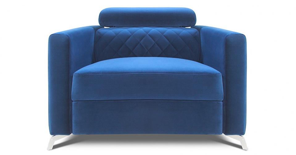 Fotel MENTOR w tkaninie typu velvet.