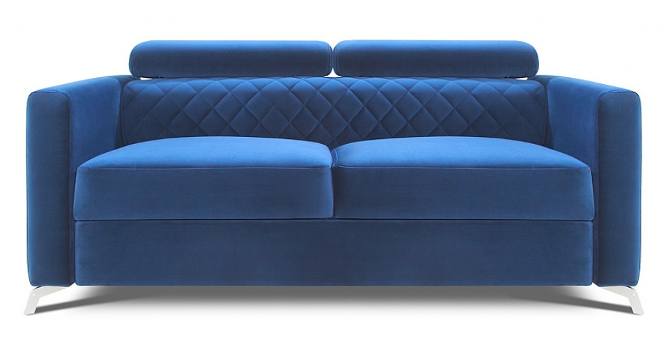 Sofa 2 osobowa MENTOR na wysokich designerskich nogach.