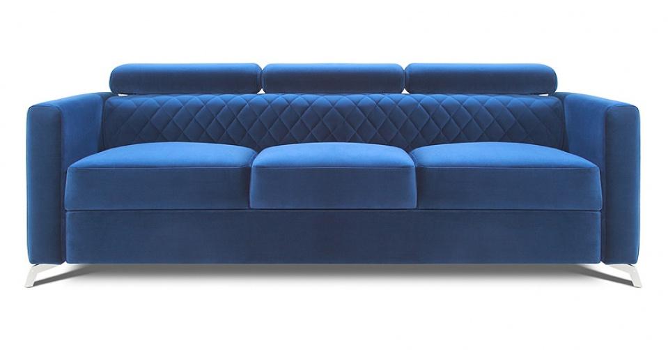 Sofa MENTOR w wersji 3 osobowej w tkaninie velvet.