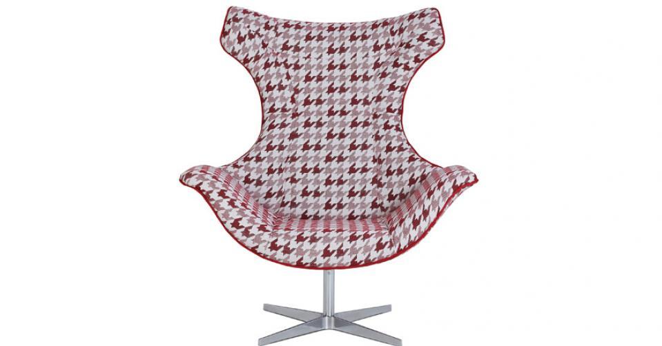 MIRASOL designerski fotel w tkaninie Mirasol