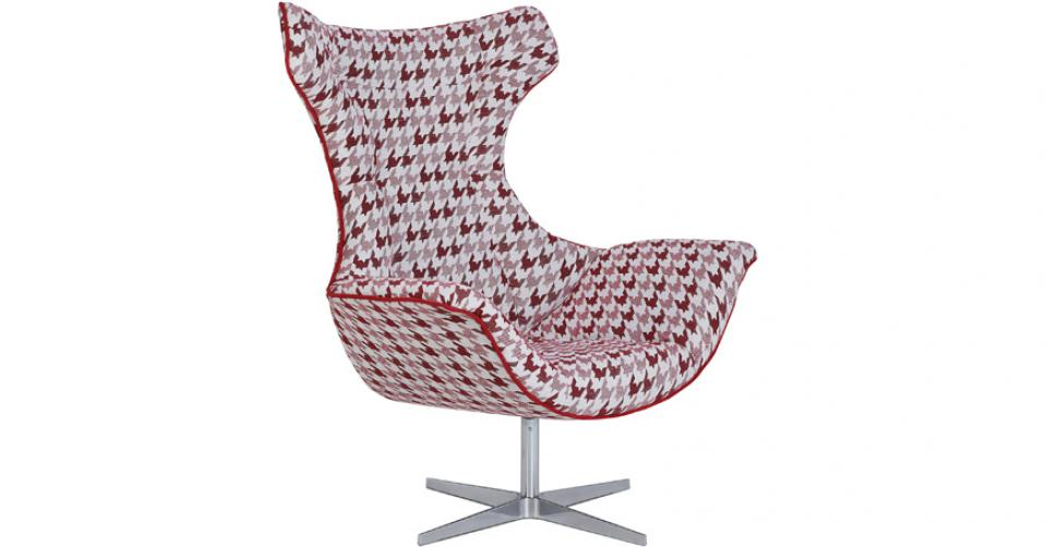 MIRASOL designerski fotel w tkaninie Mirasol.