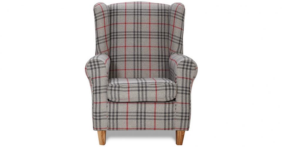 NESTOR fotel na modnych drewnianych nogach.