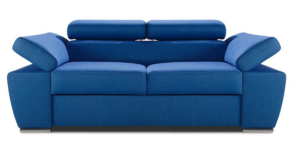 RICARDO sofa 2,5 osobowa w niebieskim kolorze.