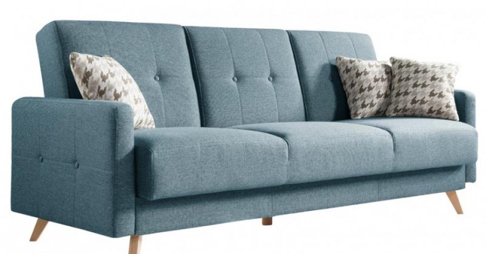 SCANDI sofa w niebieskim kolorze.