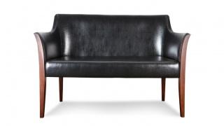 BARI sofa 2 w skórze naturalnej typu bycast