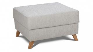 Pełna kolekcja SCANDI to: 3-osobowa sofa, fotel i podnóżek.
