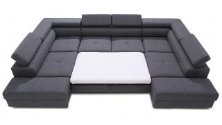 ENZO narożnik z bardzo dużą powierzchnią spania sprawia, że jest meblem doskonałym dla dużej rodziny.