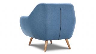 STILO fotel w niebieskiej hydrofobowej tkaninie.