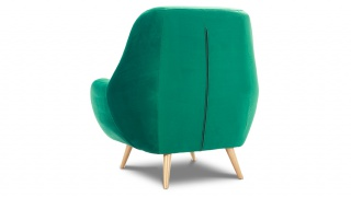 STILO fotel w zielonej hydrofobowej tkaninie.