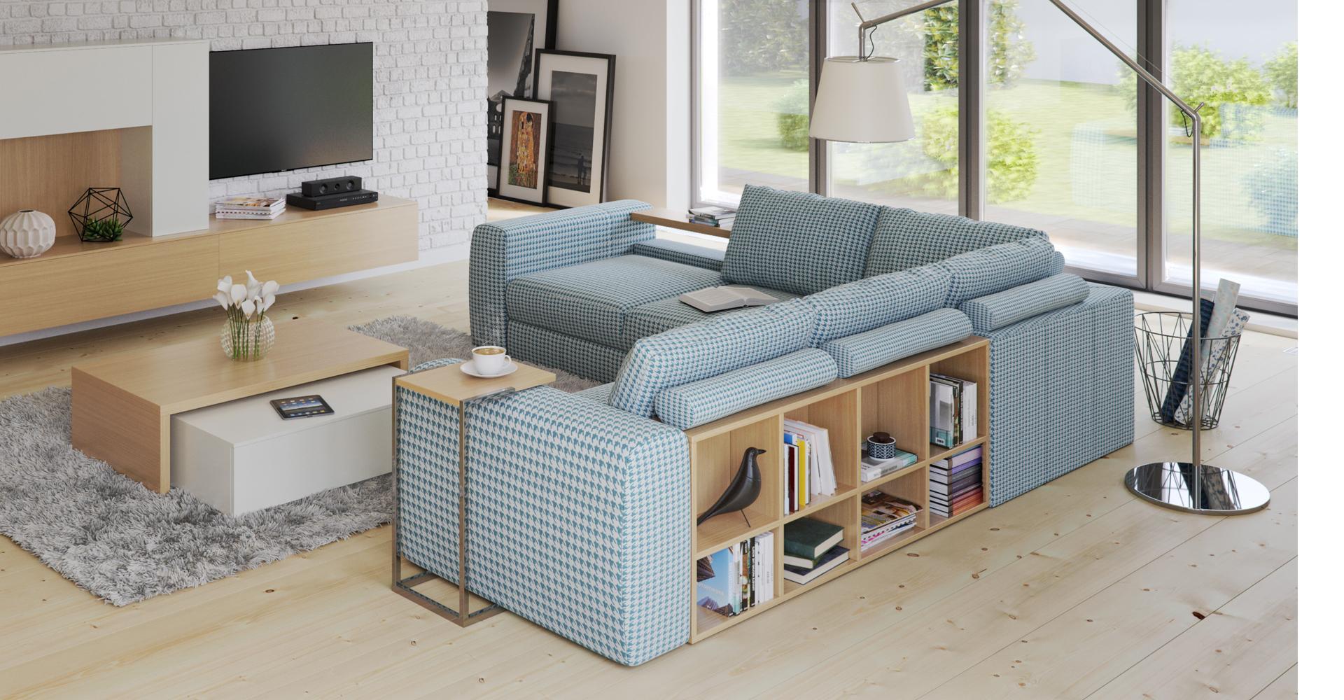 BIBLIO to mebel, który mocno i zdecydowanie zaakcentuje swoją obecność w każdej aranżowanej przestrzeni, który stać się może centralną ozdobą przestrzennego salonu.