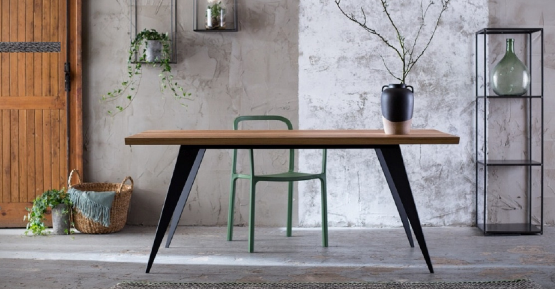 Dębowy stół LOFT 8011