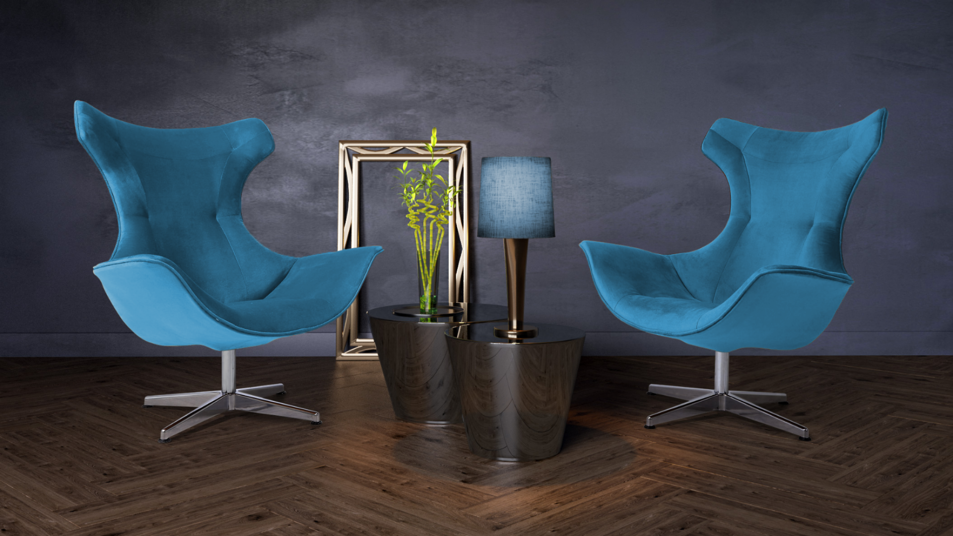 Mirasol komfortowy fotel w tkaninie velvet